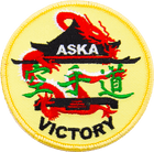 ASKA victory Yellow karate patch