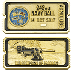 Navy Ball Ticket Challenge Coin