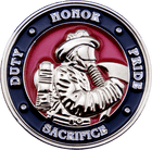3D Firefighter Challenge Coin