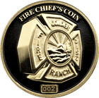 3D Fire Chief's Challenge Coin