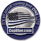 CopBlue Police Challenge Coin Side 2