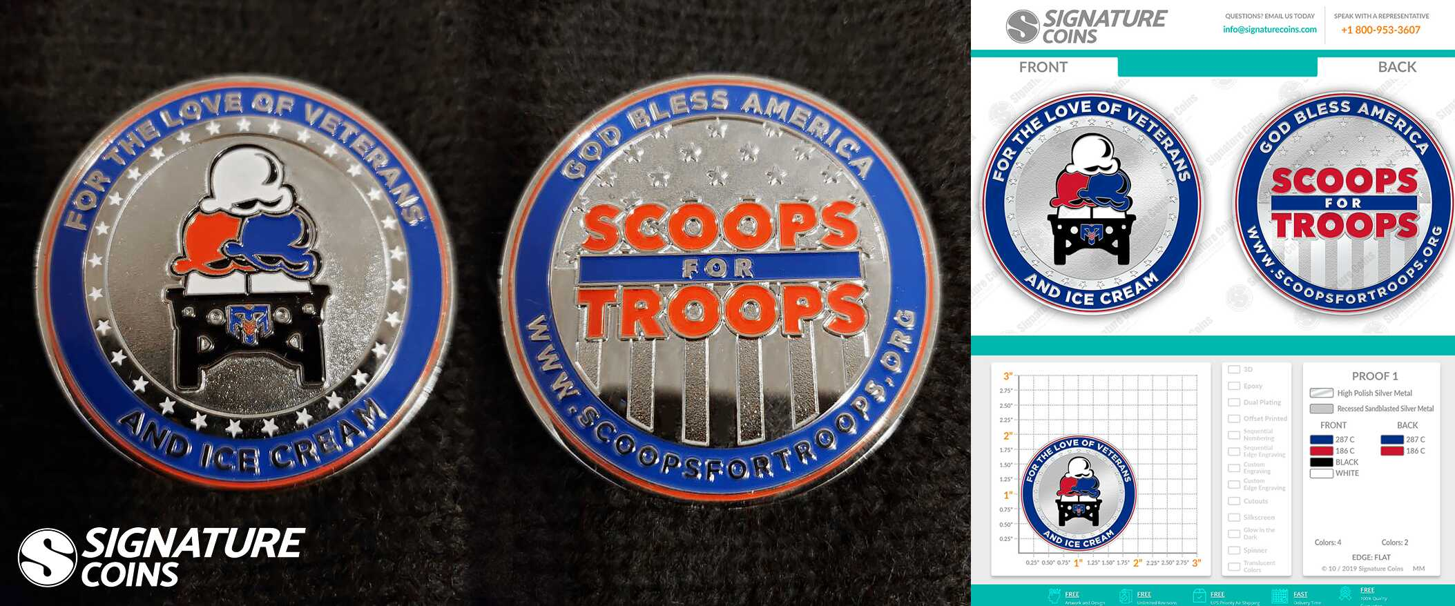 Signature Coins Scoops for Troops Challenge Coin2