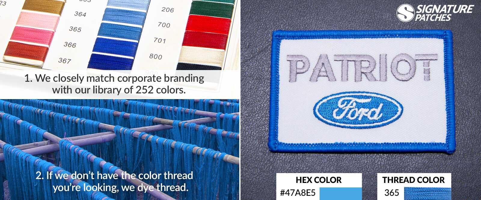 SignaturePatches - Corporate Thread Colors Ford Patch