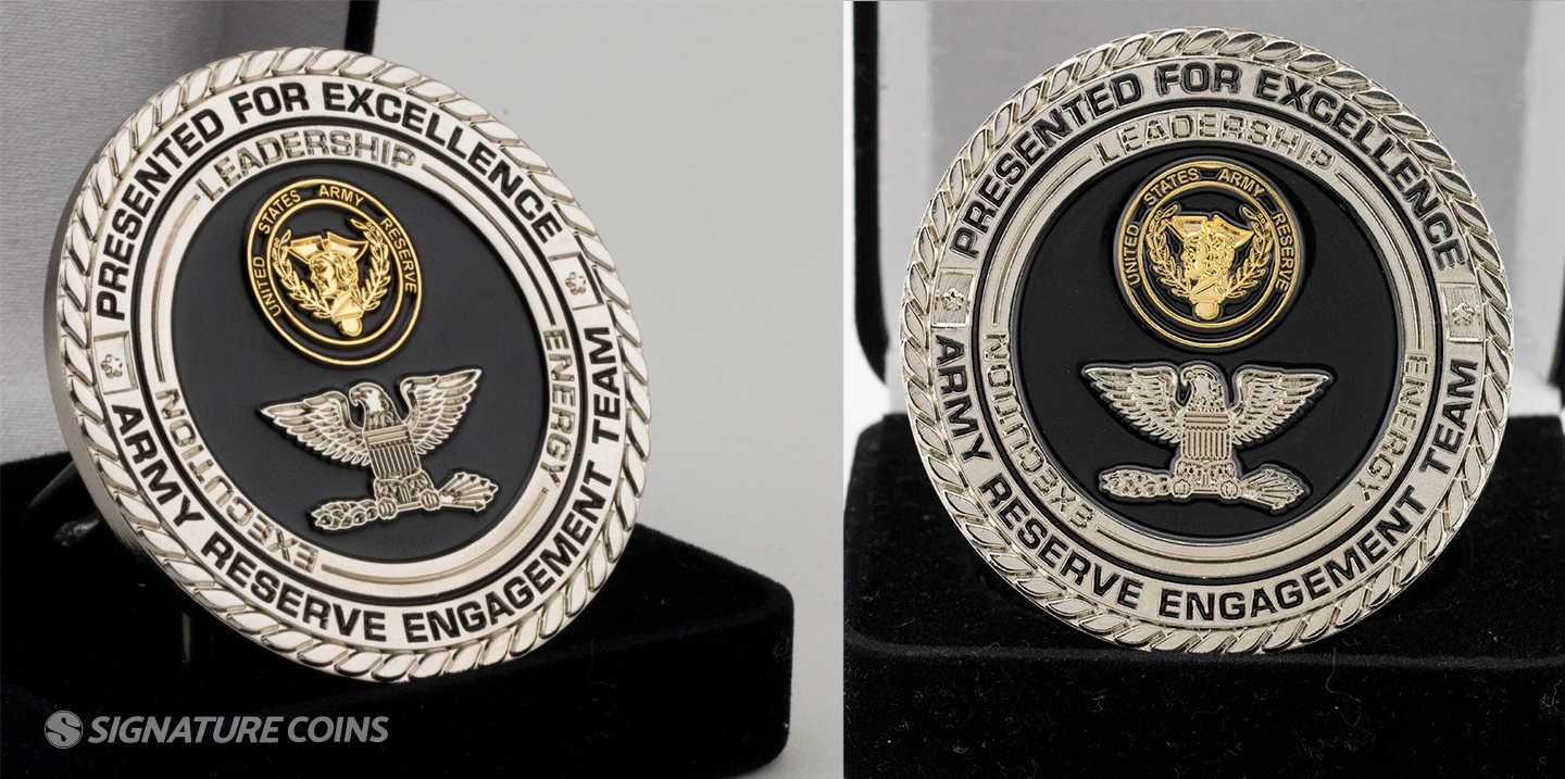 Dual Plated Gold and Silver Challenge Coin