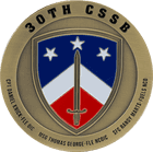 30th Combat Sustainment Support Battalion Challenge Coin