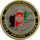 NATO Resolute Support Challenge Coin