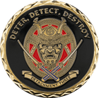 Detachment Three Samurai Challenge Coin