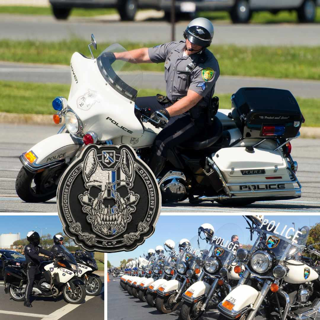 Keep The Shiny Side Up Challenge Coins Designed By Military Veterans Law Enforcement Motor Unit Coin Police Motorcycle Unit Challenge Coin