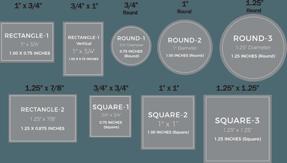 Custom Rush Pin Sizes and Lapel Pin Sizes
