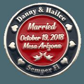Marine Corps Wedding Challenge Coin Side 2