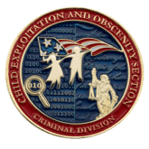 DOJ Criminal Division Challenge Coin